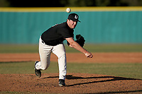 Austin Morgan (10) of the University of South Carolina Upstate Spartans delivers a pitch in an intrasquad scrimmage during fall practice on Saturday, October 3, 2020, at Cleveland S. Harley Park in Spartanburg, South Carolina. (Tom Priddy/Four Seam Images)