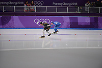 OLYMPIC GAMES: PYEONGCHANG: 15-02-2018, Gangneung Oval, Long Track, 10.000m Men, Moritz Geisreiter (GER), Seung-Hoon Lee (KOR), ©photo Martin de Jong