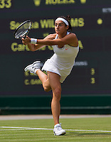 27-06-13, England, London,  AELTC, Wimbledon, Tennis, Wimbledon 2013, Day four, Caroline Garcia (FRA)<br /> <br /> <br /> <br /> Photo: Henk Koster
