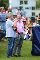 Phil Gifford and Trevor Mallard at the 2020 Farah Palmer Cup women's rugby final between Canterbury and Waikato at Rugby Park in Christchurch, New Zealand on Saturday, 31 October 2020. Photo: Martin Hunter / lintottphoto.co.nz
