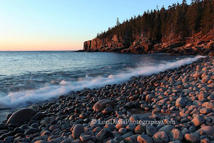 Sunrise along Otter Cliffs  #A60