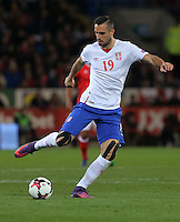 Nikola Maksimovic of Serbia in action during the 2018 FIFA World Cup Qualifier between Wales and Serbia at the Cardiff City Stadium, Wales, UK. Saturday 12 November 2016