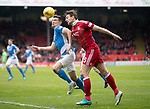 Aberdeen v St Johnstone…29.04.17     SPFL    Pittodrie<br />Graham Cummins battles with Ash Taylor<br />Picture by Graeme Hart.<br />Copyright Perthshire Picture Agency<br />Tel: 01738 623350  Mobile: 07990 594431