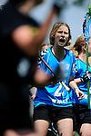 BERLIN, GERMANY - JUNE 21: Match of Team Switzerland (light blue) vs Swedish LAX Mafia (black) during the Berlin Open Lacrosse Tournament 2013 at Stadion Lichterfelde on June 21, 2013 in Berlin, Germany. Final score 6-5. (Photo by Dirk Markgraf/www.265-images.com)