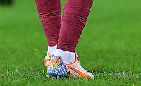 The boots of Alex Song of West Ham United during the Barclays Premier League match between Swansea City and West Ham United played at The Liberty Stadium, Swansea on 20th December 2015