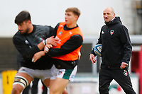 6th February 2021; Mattoli Woods Welford Road Stadium, Leicester, Midlands, England; Premiership Rugby, Leicester Tigers versus Worcester Warriors; Leicester Tigers Head Coach Steve Borthwick watches the pre-match warm-up