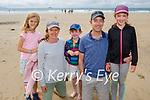 Enjoying Banna Beach on Saturday, l to r: Anna, Kate, Owen, John and Aine Fitzgerald