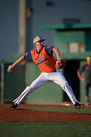 Pitcher Ryan Johnson (18) during the WWBA World Championship at Terry Park on October 9, 2020 in Fort Myers, Florida.  Ryan Johnson, a resident of Red Oak, Texas who attends homeschooling, is committed to Dallas Baptist.  (Mike Janes/Four Seam Images)