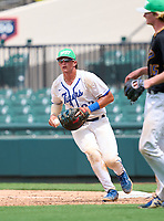 Tampa Jesuit Tigers first baseman Cole Russo (22) during the 42nd Annual FACA All-Star Baseball Classic on June 5, 2021 at Joker Marchant Stadium in Lakeland, Florida.  (Mike Janes/Four Seam Images)