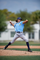Tampa Bay Rays Chris Pike (22) during a minor league Spring Training game against the Baltimore Orioles on March 29, 2017 at the Buck O'Neil Baseball Complex in Sarasota, Florida.  (Mike Janes/Four Seam Images)