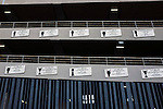 Internazionale 1 Cagliari 2, 16/10/2016. San Siro, Italian Serie A. Commemorative plaques affixed to the exterior of the Stadio Giuseppe Meazza, also known as the San Siro, before Internazionale took on Cagliari in an Italian Serie A fixture. The match was overshadowed by a huge controversy that as Inter Ultras declared open warfare on captain Mauro Icardi for a chapter in his autobiography, accusing him of lying about an incident in 2015. Inter Milan lost the match 2-1, watched by a crowd of 43,757. Photo by Colin McPherson.