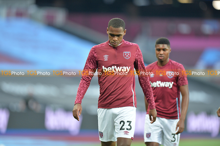Issa Diop of West Ham United during West Ham United vs Charlton Athletic, Caraboa Cup Football at The London Stadium on 15th September 2020