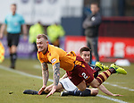 Richard Tait fouled by Cammy Kerr