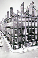 Oriel Chambers Building, designed by Peter Ellis, 1864.  A precursor of the modernist style in architecture, he used oriel windows, metal framework with stone columns.