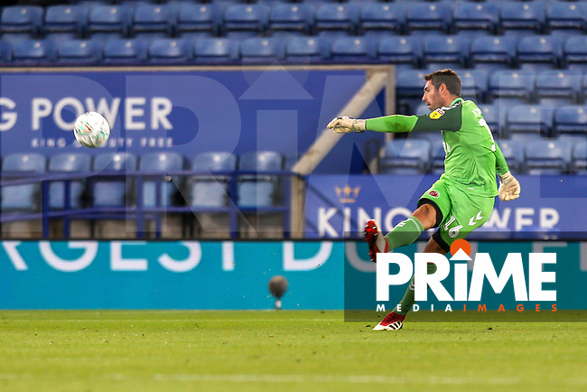 Paul Jones of Fleetwood Town during the English League Cup Round 2 Group North match between Leicester City and Fleetwood Town at the King Power Stadium, Leicester, England on 28 August 2018. Photo by David Horn.