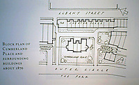 Block Plan of Cumberland Place and surrounding buildings about 1870. John Nash.