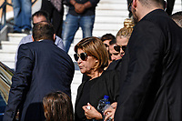 Pictured: Mourners on the steps of Agios Nektarios church in Voula, Athens Greece. Sunday 04 November 2018<br /> Re: The funeral of Greek-Australian John Macris, who was shot dead outside his house, to be held at the Agios Nektarios Church in the Voula suburb of Athens, Greece.