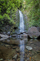 Lulumahu Falls in Nu'uanu Valley, Honolulu, O'ahu.