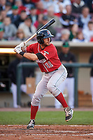 Great Lakes Loons third baseman Mike Ahmed (11) at bat during a game against the Dayton Dragons on May 21, 2015 at Fifth Third Field in Dayton, Ohio.  Great Lakes defeated Dayton 4-3.  (Mike Janes/Four Seam Images)
