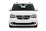 Car photography straight front view of a 2019 Dodge Grand-Caravan GT 5 Door Minivan Front View