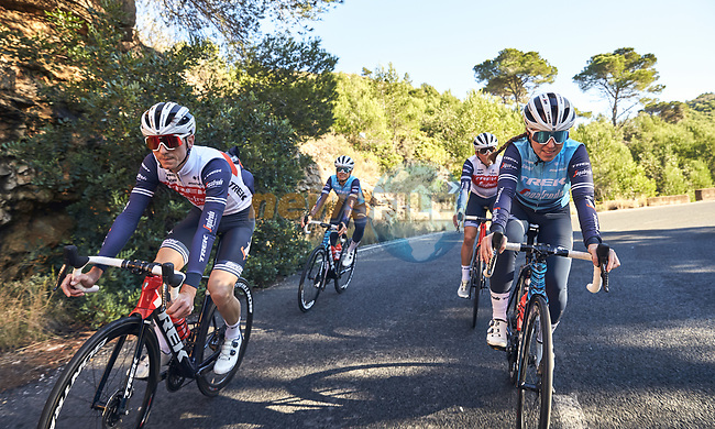 Trek–Segafredo 2021 mens and womens team during their winter training camp. 18th January 2021.<br /> Picture: Oliver Grenaa/Trek Factory Racing   Cyclefile<br /> <br /> All photos usage must carry mandatory copyright credit (© Cyclefile   Oliver Grenaa/Trek Factory Racing)