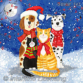 Kate, CHRISTMAS ANIMALS, WEIHNACHTEN TIERE, NAVIDAD ANIMALES, paintings+++++,GBKM747,#xa#