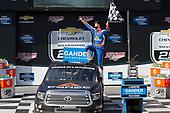 #4: Raphael Lessard, Kyle Busch Motorsports, Toyota Tundra Canac celebrates in victory lane