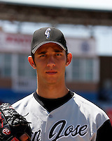 Madison Bumgarner  -  2009 San Jose Giants (California League) ..Photo by:  Bill Mitchell/Four Seam Images