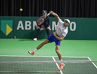 Rotterdam, Netherlands, 11 februari, 2017, ABNAMROWTT,  Qualyfying round, Pierre-Huges Herbert (FRA)