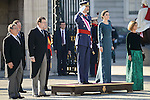 President Mariano Rajoy, King Felipe VI, Queen Letizia and Maria Dolores de Cospedal during the Military Easter at Royal Palace in Madrid, Spain. January 06, 2017. (ALTERPHOTOS/BorjaB.Hojas)