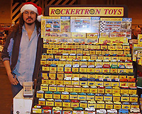 BNPS.co.uk (01202) 558833.<br /> Pic: VectisAuctions/BNPS<br /> <br /> Pictured 15 years ago: Graham Hamilton <br /> <br /> A man who spent 30 years building an epic collection of Matchbox toy cars is celebrating today after it sold for £480,000.<br /> <br /> Graham Hamilton, 55, fell in love with the miniature toys as a child and would put them back in their boxes after playing with them.<br /> <br /> He began collecting seriously in his early 20s after retrieving a box of his treasured toys from his parents' loft.<br /> <br /> Graham spent over £100,000 acquiring 1,800 Matchbox cars, which was virtually every one made at Matchbox's old Lesney factory in London between 1962 and 1982.