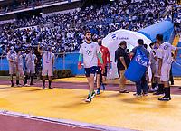 SAN PEDRO SULA, HONDURAS - SEPTEMBER 8: Matt Turner #1 of the United States enters the field before a game between Honduras and USMNT at Estadio Olímpico Metropolitano on September 8, 2021 in San Pedro Sula, Honduras.