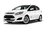Stock pictures of low aggressive front three quarter view of 2018 Ford C-Max SE-Hybrid 5 Door Mini MPV Low Aggressive