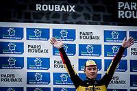 3th place - Yves Lampaert (BEL/Deceuninck Quick Step)<br /> <br /> 117th Paris-Roubaix (1.UWT)<br /> 1 Day Race: Compiègne-Roubaix (257km)<br /> <br /> ©kramon