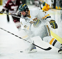24 November 2009: University of Vermont Catamount forward Jack Downing, a Junior from New Canaan, CT, in action against the University of Massachusetts Minutemen at Gutterson Fieldhouse in Burlington, Vermont. The Minutemen defeated the Catamounts 6-2. Mandatory Credit: Ed Wolfstein Photo