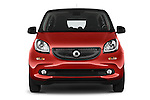 Car photography straight front view of a 2015 Smart FORFOUR Prime 5 Door Micro Car Front View