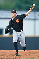 Starting pitcher Zach Britton #12 of the Frederick Keys in action versus the Winston-Salem Dash at Wake Forest Baseball Stadium August 6, 2009 in Winston-Salem, North Carolina. (Photo by Brian Westerholt / Four Seam Images)