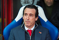 Arsenal's manager Unai Emery before the Premier League match between Crystal Palace and Arsenal at Selhurst Park, London, England on 28 October 2018. Photo by Andrew Aleksiejczuk / PRiME Media Images.