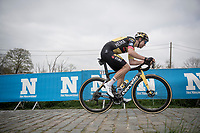 Wout van Aert (BEL/Jumbo-Visma) up the final Paterberg climb<br /> <br /> 105th Ronde van Vlaanderen 2021 (MEN1.UWT)<br /> <br /> 1 day race from Antwerp to Oudenaarde (BEL/264km) <br /> <br /> ©kramon