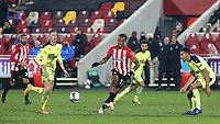 Ivan Toney of Brentford in action during Brentford vs Newcastle United, Carabao Cup Football at the Brentford Community Stadium on 22nd December 2020
