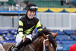 Interpol(6) with Jockey Emma-Jayne Wilson aboard makes their way to the winner's circle after racing to victory at the Northern Dancer Turf Stakes at Woodbine Race Course in Toronto, Canada on September 13, 2015.