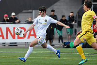 Mario Barcia of Team Wellington scores a goal  during the ISPS Handa Men's Premiership - Wellington Phoenix v Team Wellington at Fraser Park, Wellington on Saturday 14 November 2020.<br /> Copyright photo: Masanori Udagawa /  www.photosport.nz