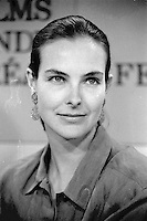 Montreal - Canada - File Photo - Carole Bouquet and Bertrand Blier  news conference at the World Film Festival, August 25, 1989.<br /> <br /> Photo : Agence Quebec Presse - Pierre Roussel