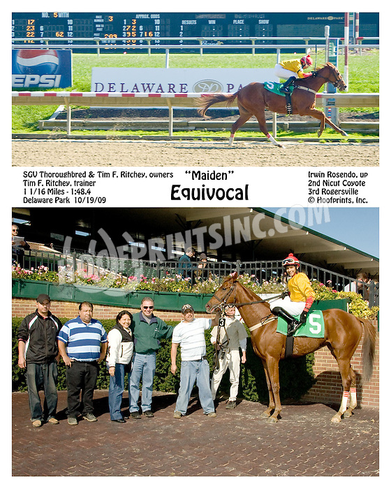 Equivocal winning at Delaware Park on 10/19/09