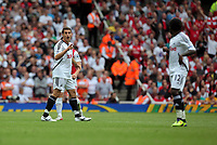 Pictured: Angel Rangel of Swansea City in action. Saturday 10 September 2011<br /> Re: Premiership Arsenal v Swansea City FC at the Emirates Stadium, London.