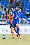 Ulsan Hyundai Midfielder Jeong Jae Yong (R) fights for the ball with Brisbane Roar Forward Manuel Arana Rodriguez (L) during the AFC Champions League 2017 Group E match between Ulsan Hyundai FC (KOR) vs Brisbane Roar (AUS) at the Ulsan Munsu Football Stadium on 28 February 2017 in Ulsan, South Korea. Photo by Victor Fraile / Power Sport Images