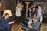 LAPO E JONH ELKANN CON LAVINIA BORROMEO   - CERIMONIA PER LA LEGION D'ONORE AD ALAIN ELKANN - AMBASCIATA FRANCESE   PALAZZO FARNESE ROMA 12/2009