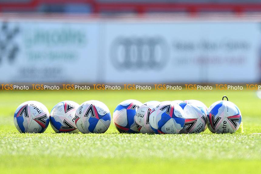 EFL Match Day balls during Stevenage vs Bradford City, Sky Bet EFL League 2 Football at the Lamex Stadium on 5th April 2021