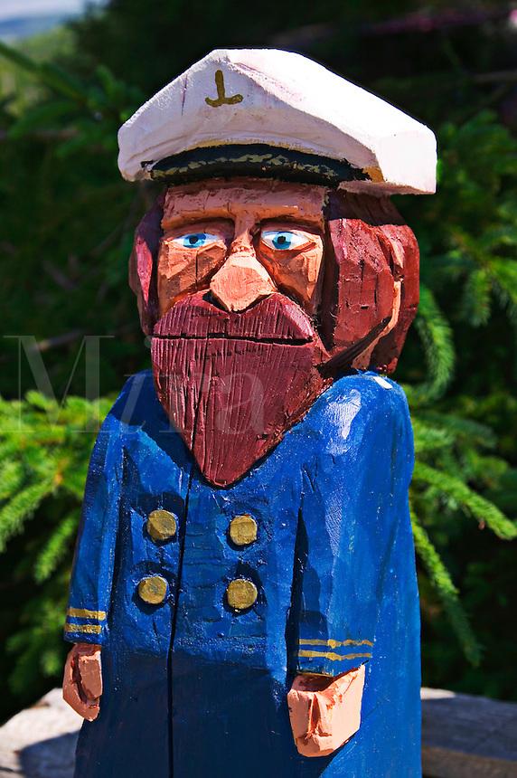 Folk art sea capatin, Nova Scotia; Canada