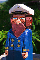 Folk art sea capatin, Nova Scotia; Canada